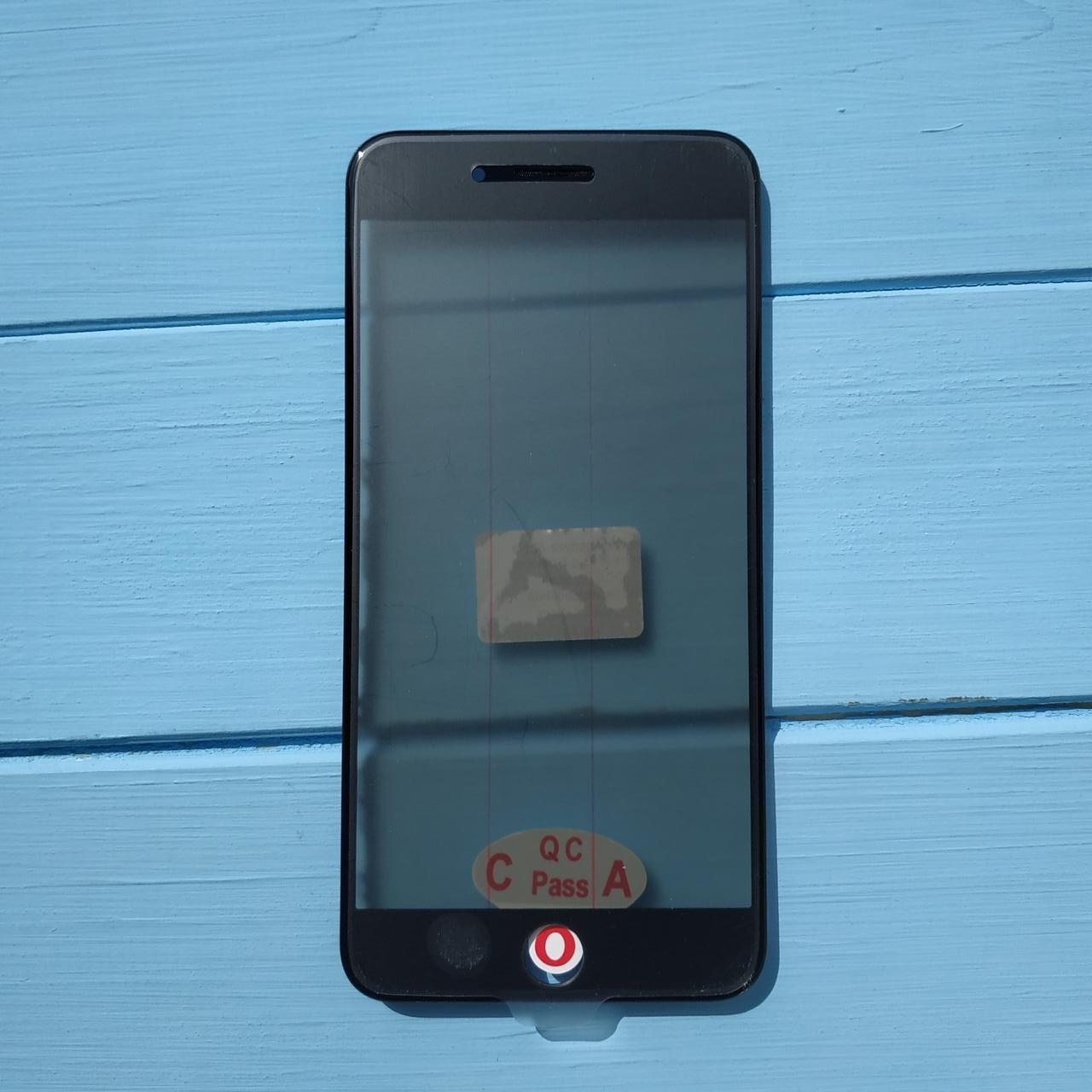Стекло корпуса Apple iPhone 8 Plus с рамкой, OCA пленкой, поляризационной пленкой Black
