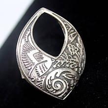 Кольцо из стали с напылением серебра