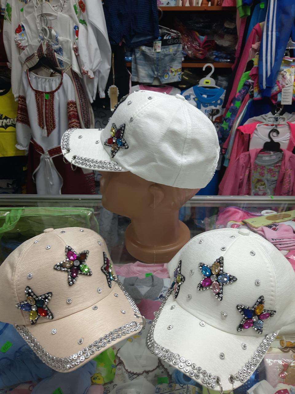 Нарядная летняя кепка бейсболка детская для девочки  4 5 6 7 8 9 лет