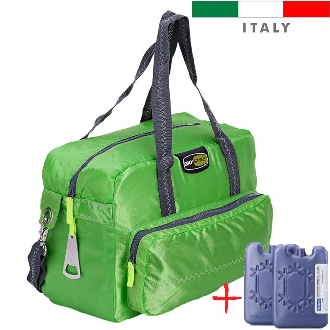 Термосумка Giostyle Vela 23 l зелена (сумка-холодильник, ізотермічна сумка). Охолодження 14 годин!