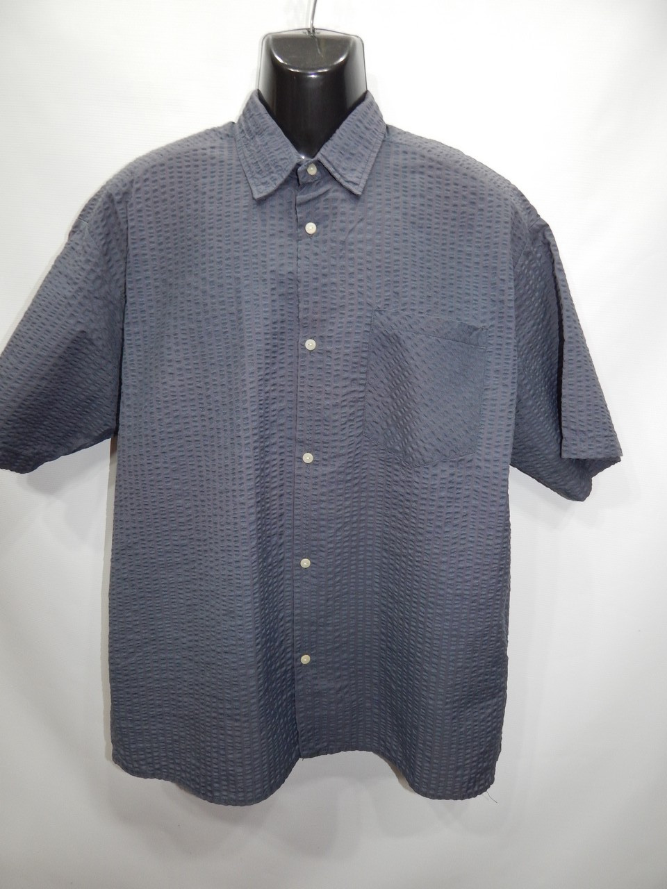 Мужская рубашка с коротким рукавом  (117КР) р.52