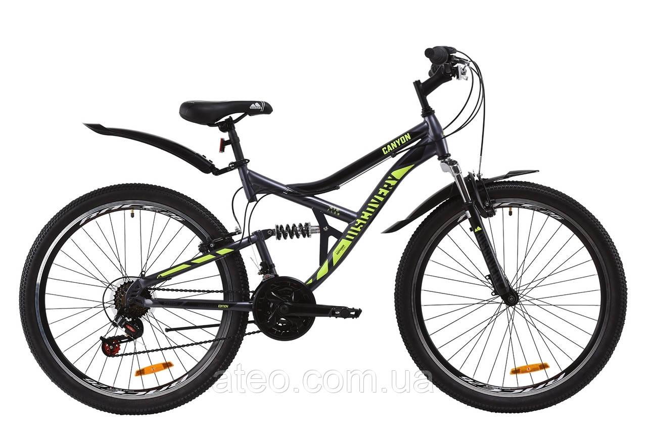 "Велосипед ST 26"" Discovery CANYON AM2 Vbr рама-17,5"" сіро-жовтий"