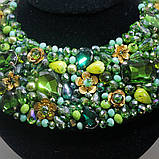 Оригинальный стильный воротник декорирован камнями, фото 2