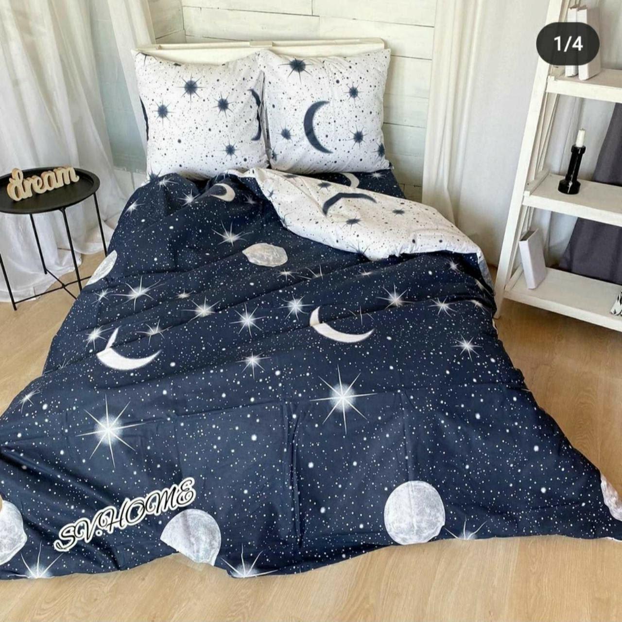 Постельное белье полуторное со звездами