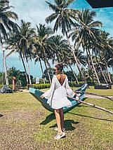 Пляжное шифоновое платье-туника белого цвета с длинным рукавом 42-46 р, фото 3
