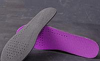 Спортивные стельки для обуви фиолетовые, 28см (обрезаются)