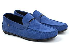 Взуття великих розмірів чоловіча замшеві мокасини сині літні перфорація Rosso Avangard ETHEREAL Sea Vel BS