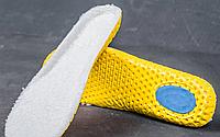 Спортивные стельки Eva (Эва) с начесом (антишоковая пятка, 29см, обрезные) Белые