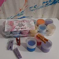 Набор универсальных художественных акриловых красок Из 12 цветов по 10 мл.