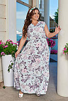 Платье длинное, в пол, батал, больших размеров