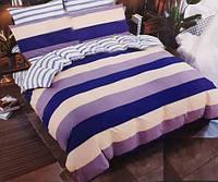 Качественное семейное постельное белье , цветная полоска