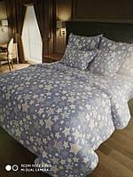 Комплект постельного белья семейка,звезды на голубом