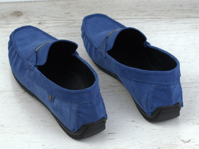Обувь больших размеров мужская мокасины замшевые синие летние перфорация Rosso Avangard ETHEREAL Sea Vel BS