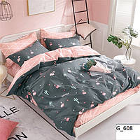 Качественное постельное белье двойка с фламинго