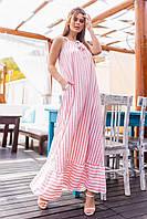 Платье длинное, в пол, в полоску, фото 1