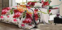 Комплект красивого цветочного постельного белья отличного качества, полуторка, красные розы