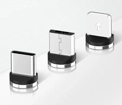 Коннектор  для магнитного кабеля для зарядки телефона USLION разъем iPhone / Type C /  Micro USB