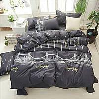 Комплект качественного постельного белья, размер євро, будапешт