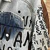 Молодежная джинсовая куртка голубого цвета с надписями 42-46 р, фото 2
