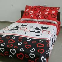 Двуспальный комплект постельного белья с котами