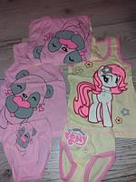 Майка трусики для дівчинки розові і жовті 92-98-104-110-116-122