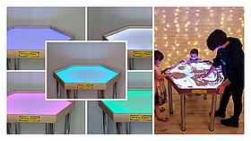 Шестикутний стіл для малювання піском Art&Play® ясен