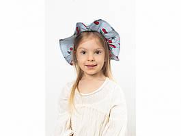 Детская шляпа Манк  голубая