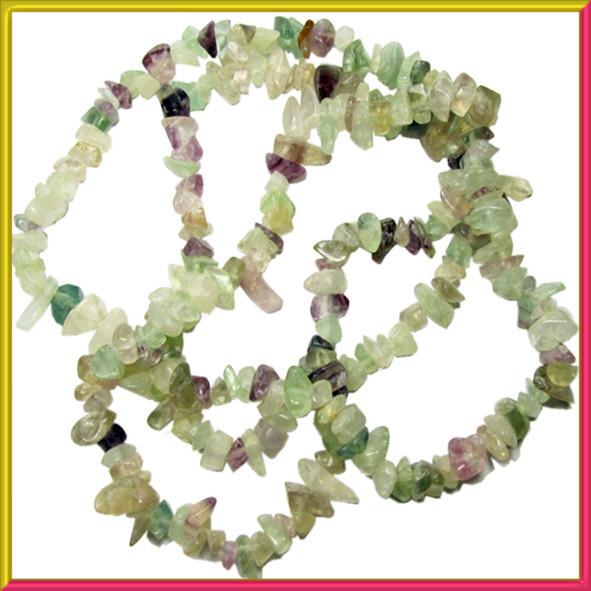 Сколы Флюорит, Крошка Мелкая, Размер 4-9*2-5мм. Около 85 см нить, Бусины Натуральный Камень, Рукоделие