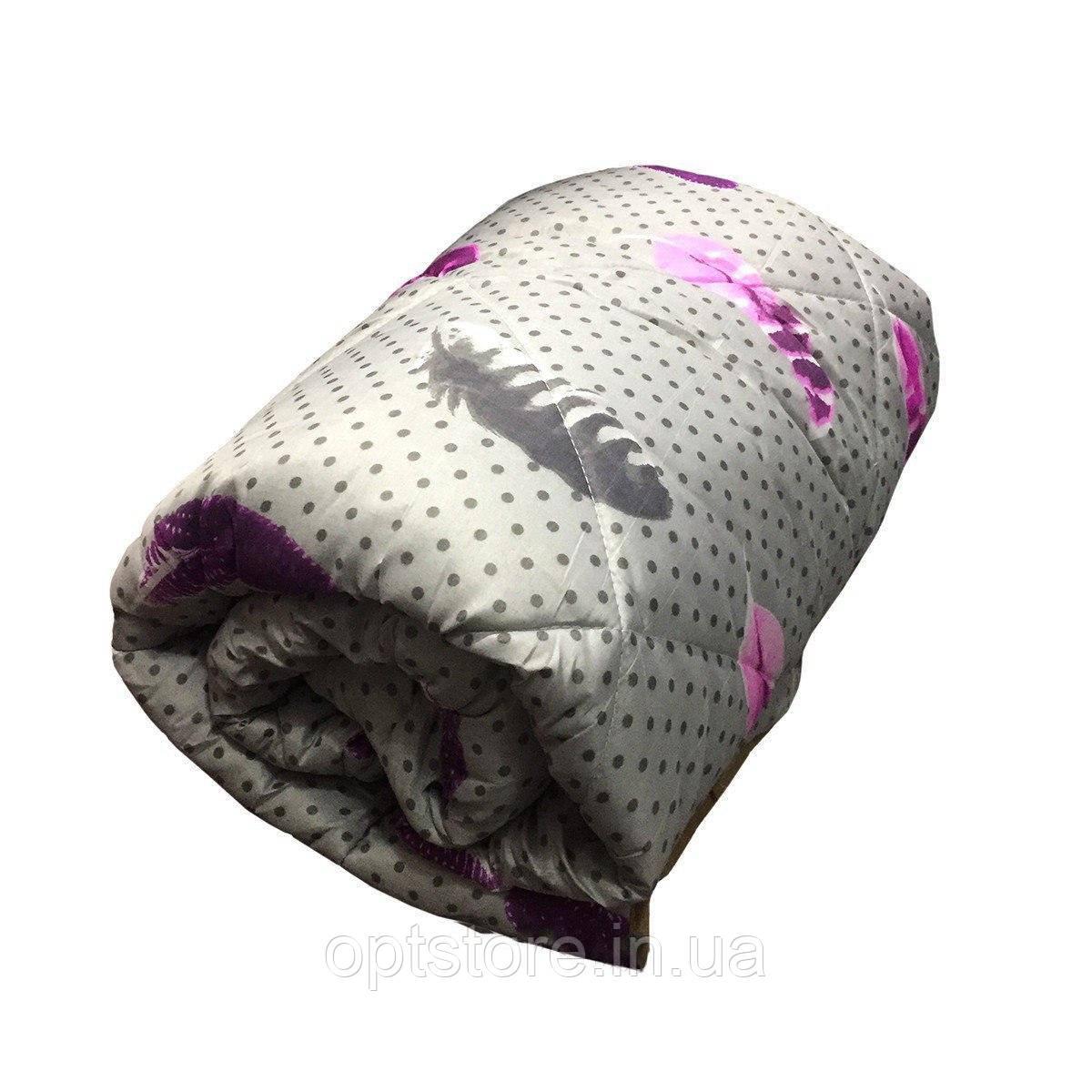 Одеяло полуторное холлофайбер, ткань поликоттон