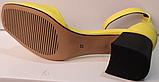 Босоножки на каблуке кожаные от производителя модель РУ228-4, фото 5