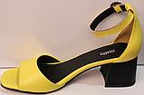 Босоножки на каблуке кожаные от производителя модель РУ228-4, фото 3