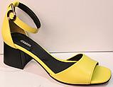Босоножки на каблуке кожаные от производителя модель РУ228-4, фото 2