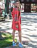 """Сукня вишита """"Борщівські барви"""" на льоні"""