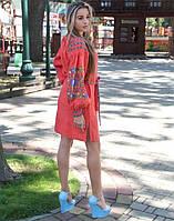 """Сукня вишита """"Борщівські барви"""" на льоні, фото 1"""