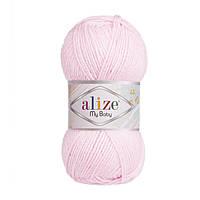 Пряжа Alize My Baby , цвет 185 детский розовый