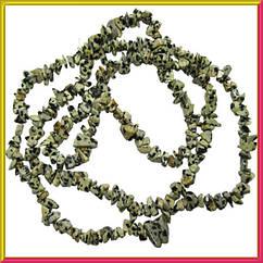Сколы Яшма Далматинец Мелкие, Размер 4-9*2-5мм, Около 85 см нить, Бусины Натуральный Камень, Рукоделие