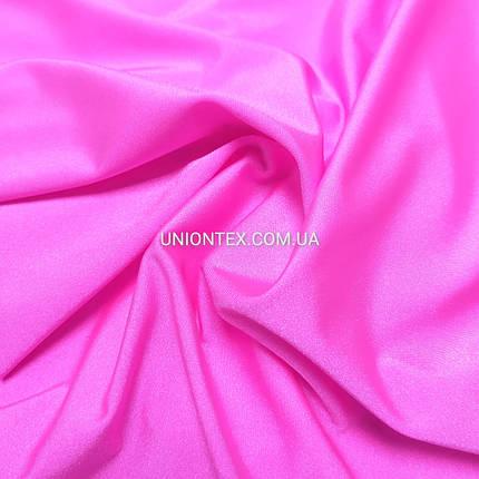 """Трикотаж бифлекс """"купальник"""" блестящий розовый неон, фото 2"""
