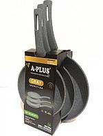 Набор Соковородок A-PLUS 1741 3 шт с мраморным покрытием, фото 1