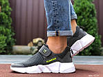 Мужские кроссовки Running (темно-серые с белым) 9574, фото 4