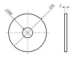 Прокладка гумова ф32/ф8,5 для тороїдальних трансформаторів, фото 2