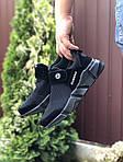 Чоловічі кросівки Running (чорні) 9578, фото 2