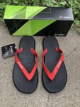 Мужские вьетнамки, пляжная обувь Rider Бразилия черные с красным