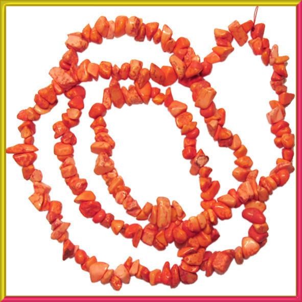 Сколы Говлит Коралловый Мелкие Размер 4-9*2-5мм, Около 78 см нить, Бусины Натуральный Камень, Бусы, Бусинки