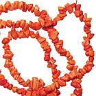 Сколы Говлит Коралловый Мелкие Размер 4-9*2-5мм, Около 78 см нить, Бусины Натуральный Камень, Бусы, Бусинки, фото 4