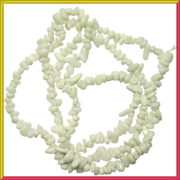 Сколы Агат Белый Мелкий, Размер 4-8*3-5 мм, Около 85 см нить, Бусины Натуральный Камень, Фурнитура