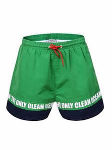 Оригинальные Мужские Шорты Для Пляжа Glo-story SS20 MTK-0333 Green Зелёные