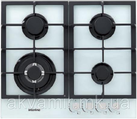 Варочная панель газовая INTERLINE HGG 764 FGT WA  белое стекло