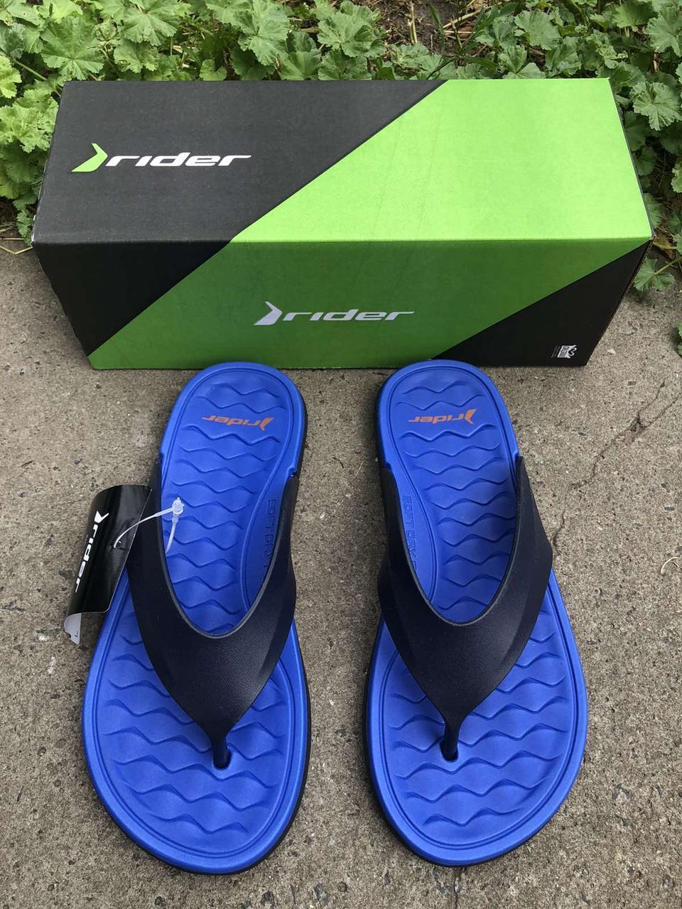Rider Бразилія сині чоловічі в'єтнамки, шльопанці, пляжне взуття