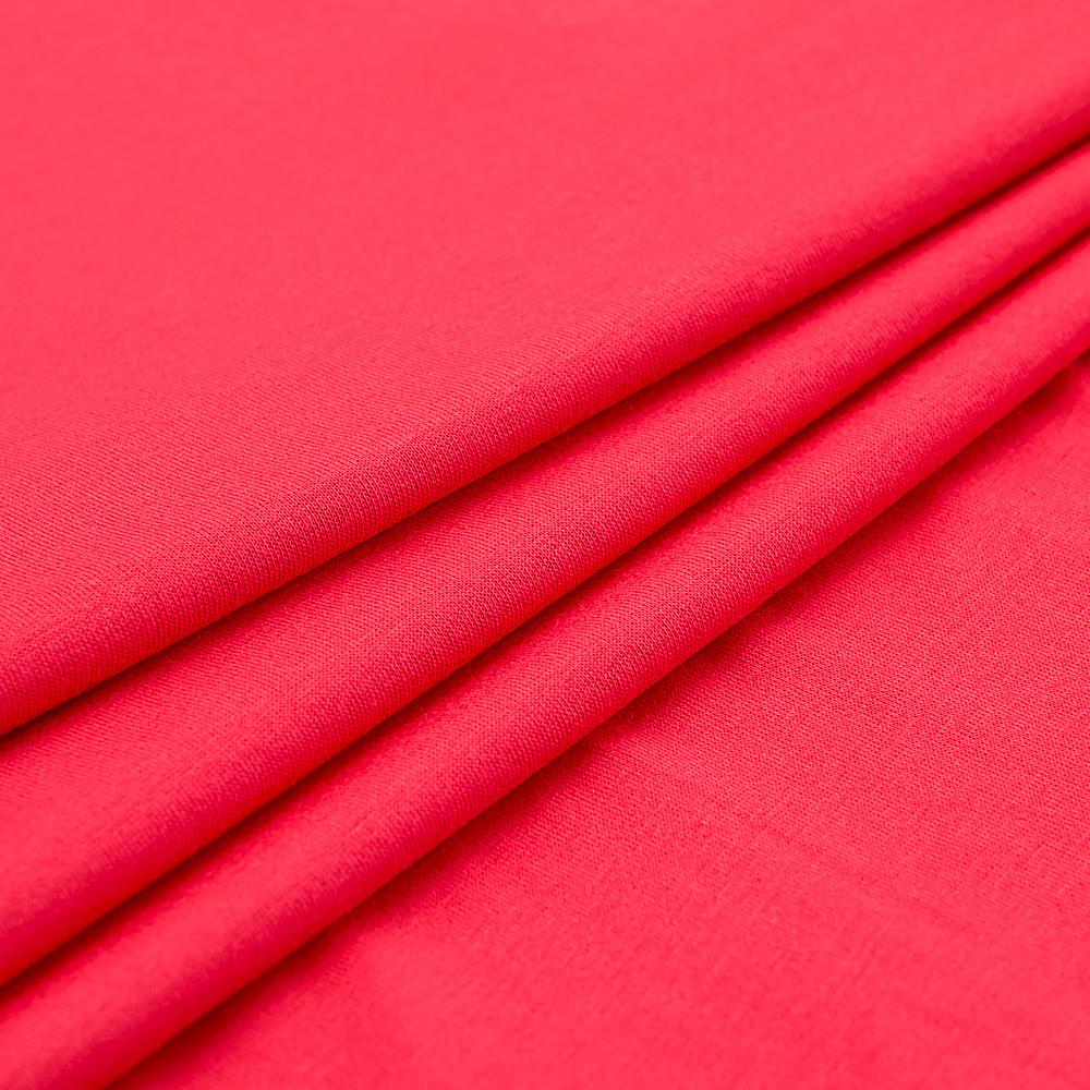 Ткань трикотажная Вискоза красный, опт от рулона, купить вискозу в Украине