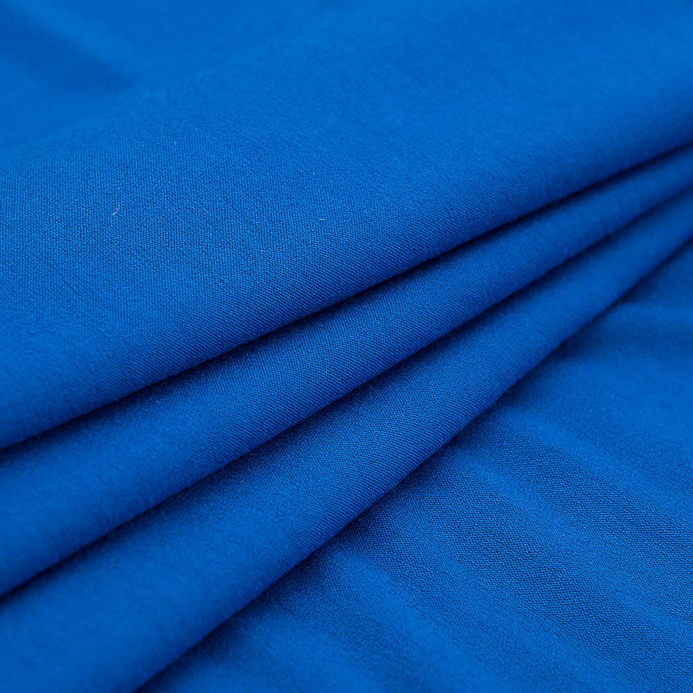 Тканина трикотажна Віскоза синій, опт від рулону, купити віскозу в Україні